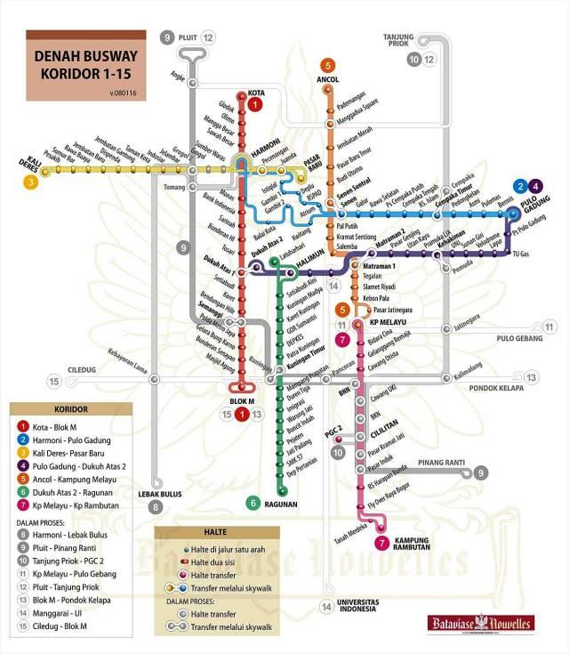 peta busway Jakarta