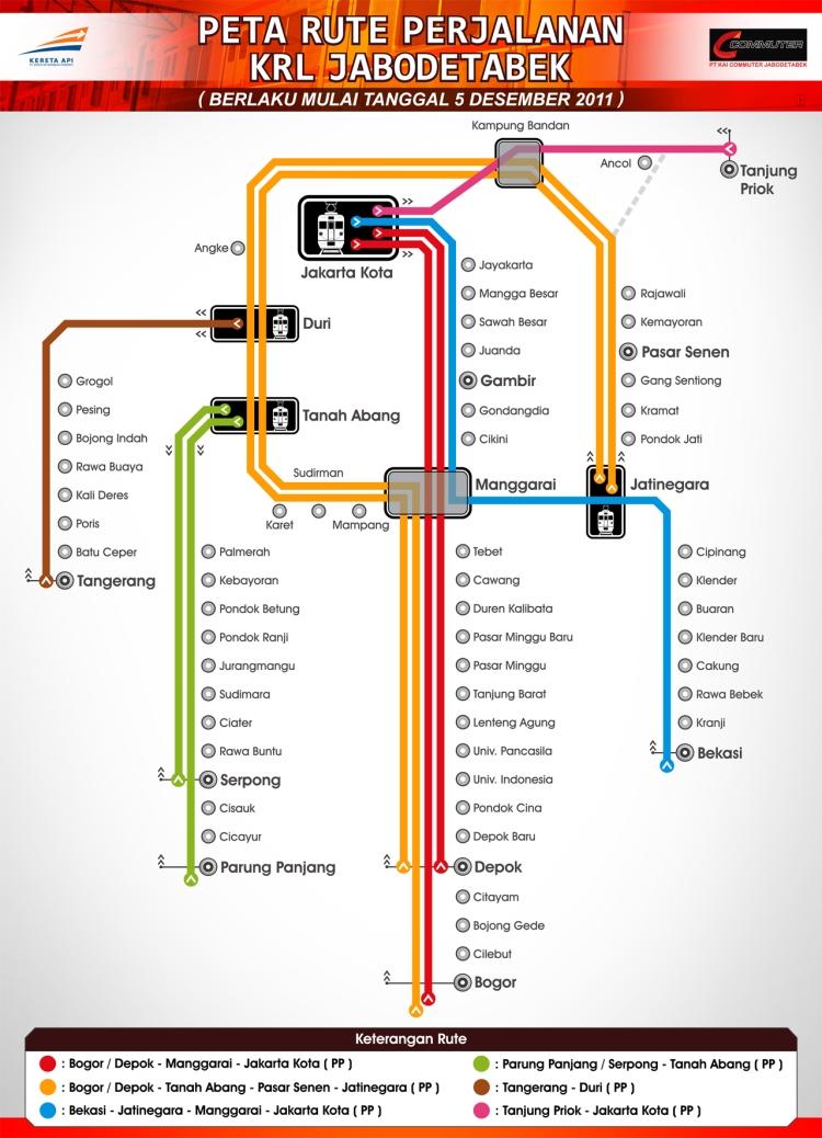 peta KRL