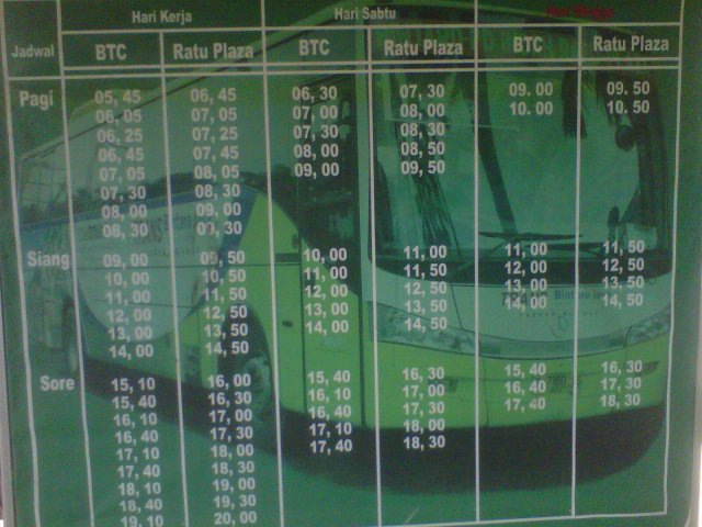 Jadwal Bus Xtrans Bintaro