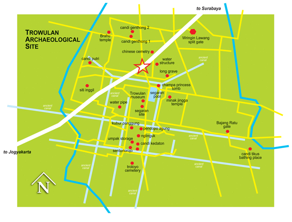 Peta Wisata Arkeologi Trowulan